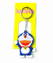 f3fcfffd4 12pcs Doraemon Soft Silicagel Keychain Fashion Round Metal Key Ring Pendant  Figure Model Accessories Xmas Gifts