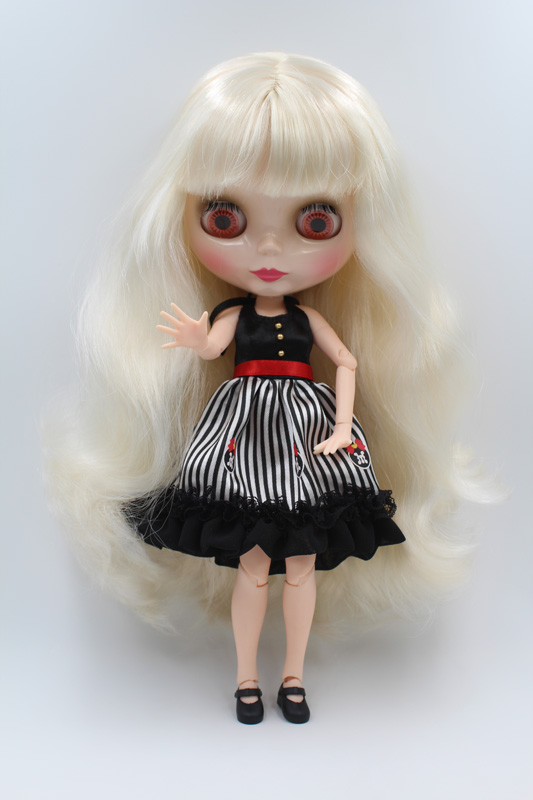 Free Shipping BJD joint RBL-215J DIY Nude Blyth doll birthday gift for girl 4 colour big eyes dolls with beautiful Hair cute toy free shipping nude blyth doll pink hair big eye doll for girl s gift pj002