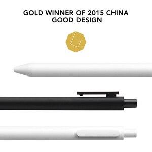 Image 5 - Xiaomi Lote de 10 unidades de bolígrafo KACO de 0,5mm, bolígrafo para firmar, tinta Gal, escritura suave, recarga negra, no pluma estilográfica