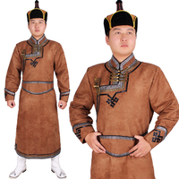 Chinese minority clothing apparel Mongolia Cashmere clothes dance costume men cosplay costume