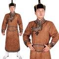 Ropa de la minoría china de Mongolia Cashmere ropa traje de la danza de los hombres cosplay