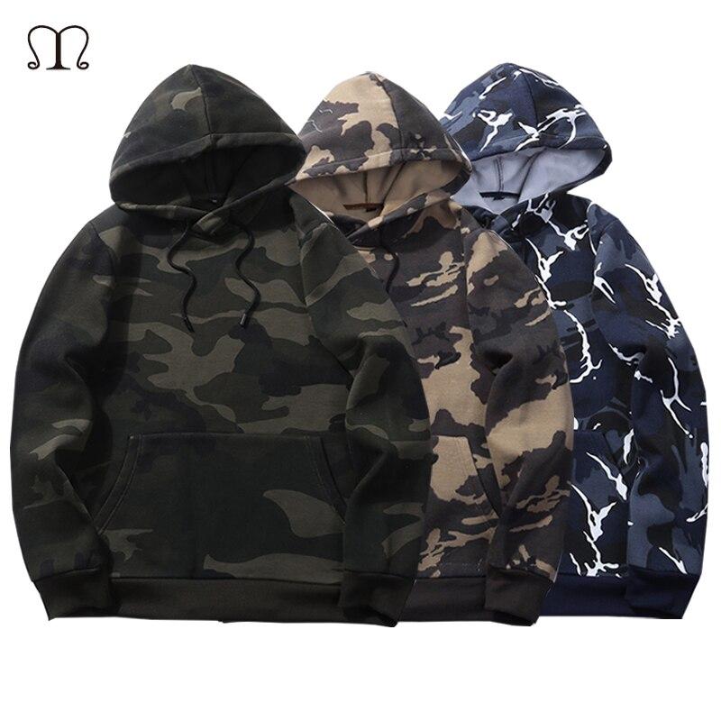 USA SIZE Camouflage Sweatshirt Men's Military Style Sweatshi