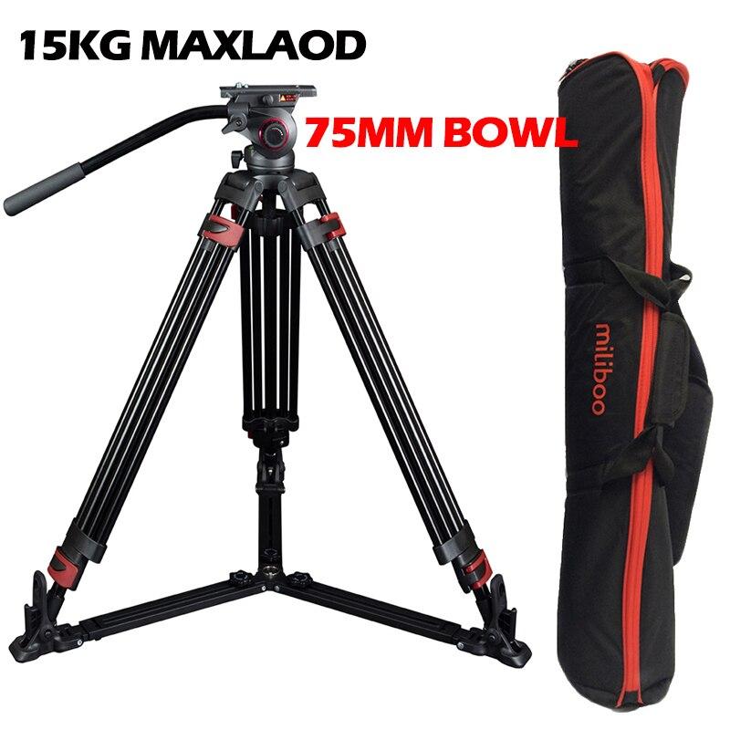 15kg Maxload 609A Aluminum Heavy Duty Professional Video Camera font b Tripod b font font b
