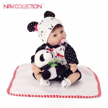 NPK 40cm Silicone baby reborn dolls, lifelike doll reborn babies toys for girl pink princess gift brinquedos for kids