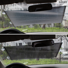 Auto Retractable Car Sun Visor Front Windshield Window Shade Shield Cover Sunshade Curtain Protection
