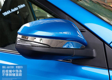 Lapetus For Toyota Highlander 2014 2015 2016 Stainless Steel Auto Styling Side Door Mirror Rearview Stripe Cover Trim 2 Pcs цена