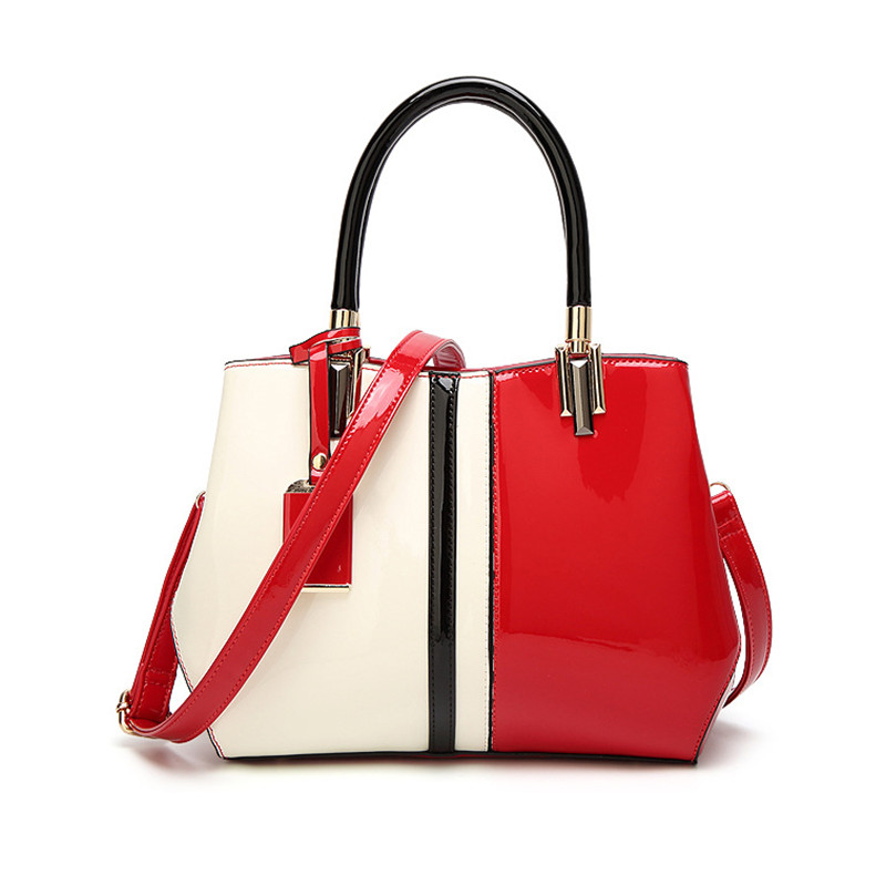sac a main Spring and summer Europe and the United States fashion handbags patent leather bright handbag shoulder Messenger bag