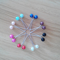 24pcs/lot Candy Color Random Mix Elegant Muslim Brooch Women Scarf Shawl Pin Clip Scarf Buckle Scaves Accessories