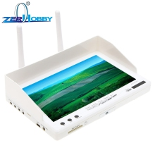 RC732-DVR All-in-one 7in 800*480 HD LCD Monitor FPV Built-In Baterai dan 32CH 5.8G Wireless Diversity Receiver