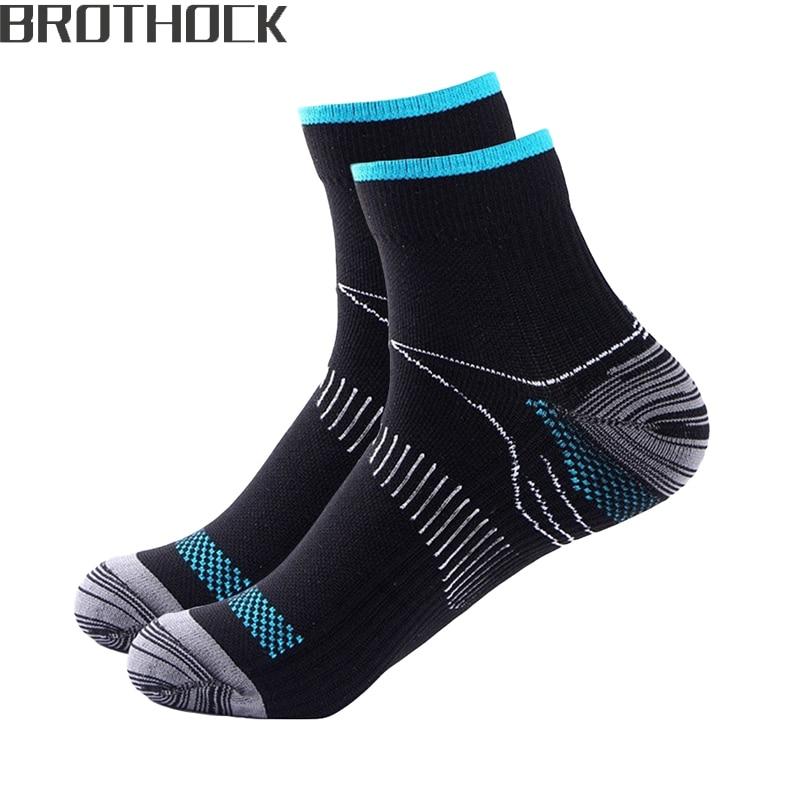 Компрессионные носки Brothock Plantar Fascia, абсорбирующие потовые носки, воздухопроницаемые спортивные носки под давлением