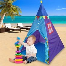 Portable Outdoor & Indoor Anak Tidur Bermain Tenda Anak-anak Playhouse dengan Tenda Lampu(China)