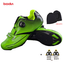 BOODUN 2018 New Cycling Shoes Professional Road Bike Shoes Self-locking Breathable Racing Bicycle Shoes Zapatos bicicleta