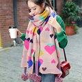 Г-жа Зима Шарф Корейской моды жакард вязаный шарф девушка осень зима открытый теплый шерстяной шарф