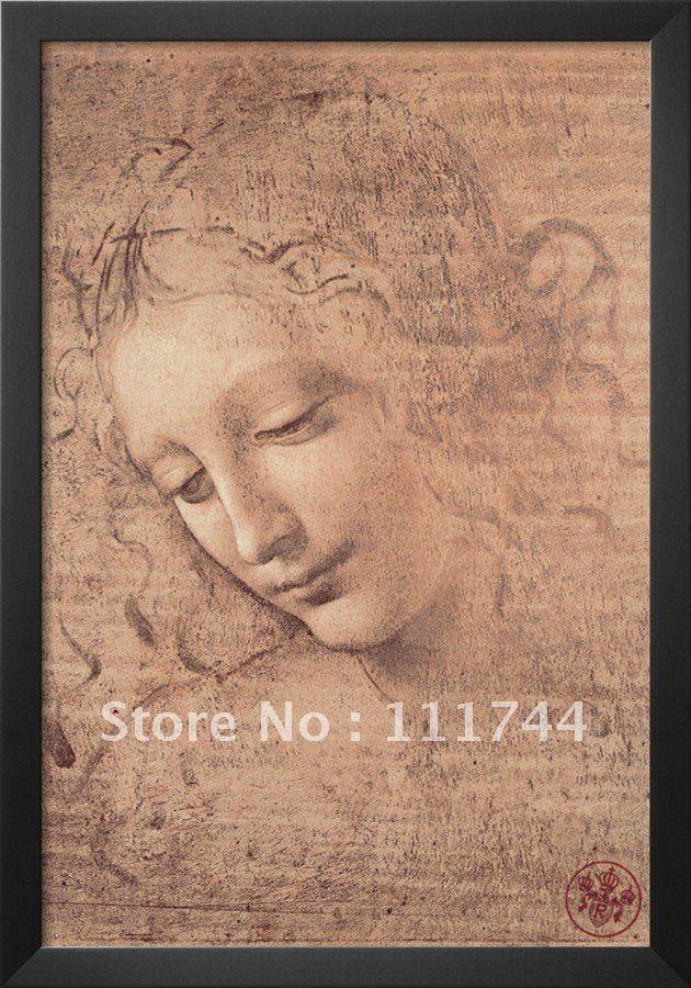 Beautiful Oil Painting Female Head full La Scapigliata By Leonardo Da Vinci canvas art High quality Hand painted