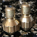 Freeshipping NEW 2015 PRO Brass Dull Polish diamond Shape Tattoo Grip Back Stem for tattoo machine gun tattoo accessory Supply