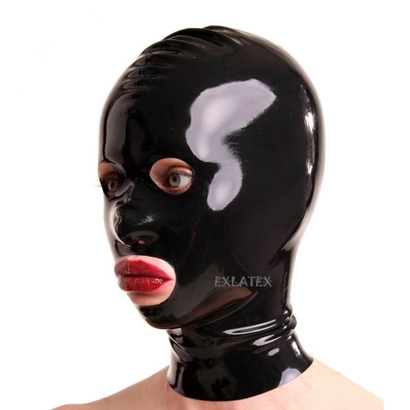 Latex Haube Unisex Latex Maske Fetisch sm Maske mit