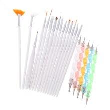 1Set Professional Nail Brushes Design Painting Nail Art Dotting Tools Set Pen Brush For Manicure Bundle Kit Nail Tools Manicura