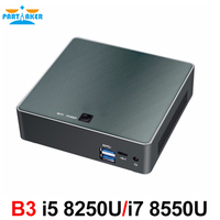 Partaker B3 Mini PC 8th Gen Intel Core i7 8550U i5 8250U Quad Core DDR4 mini pc Plam mini Computer with HDMI Type c up to 4GHz