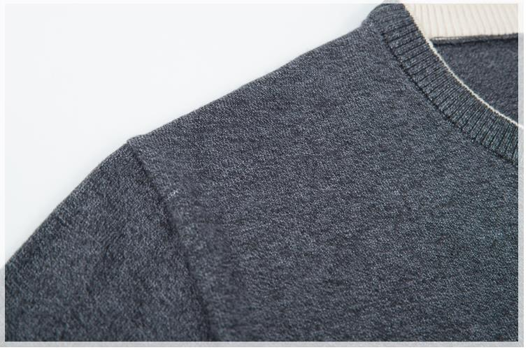 Batmo 2019 new arrival autumn&winter high quality O-Neck black casual sweater men,men's casual sweaters plus-size M-8XL 9881