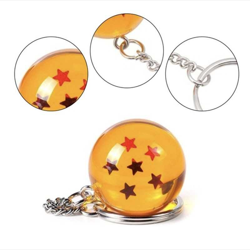 Dragon Ball Keychain Goku ญี่ปุ่นการ์ตูนอะนิเมะพวงกุญแจตัวเลขเครื่องประดับดาวลูกบอลคริสตัล Keyring Chain Collection ของขวัญแหวน