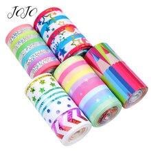 Jojo Луки 75 мм grosgrain пятно лента с принтом в цветную полоску;