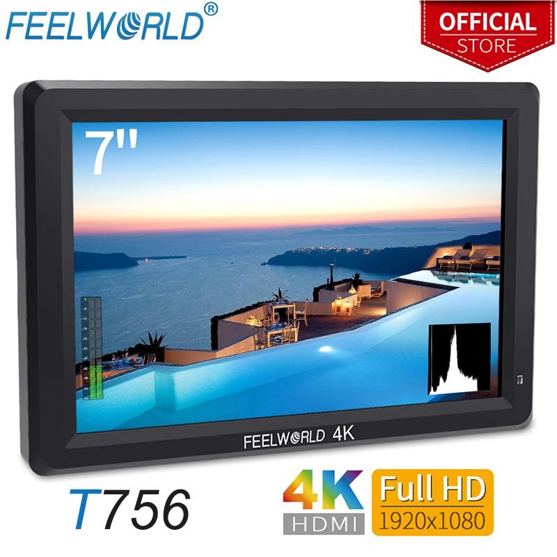 Feelworld 7 pouces IPS 1920x1200 4 K moniteur HDMI moniteur de champ de caméra vidéo pour reflex numérique Canon Nikon Sony ZHIYUN T756