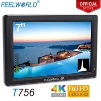 Feelworld 7 Inch IPS 1920x1200 4K Monitor HDMI Video Camera Field Monitor for DSLR Canon Nikon Sony ZHIYUN T756