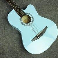 Горячая 38 Акустическая Гитары 38 17 высокого качества Гитары ra Музыкальные инструменты с гитарные струны