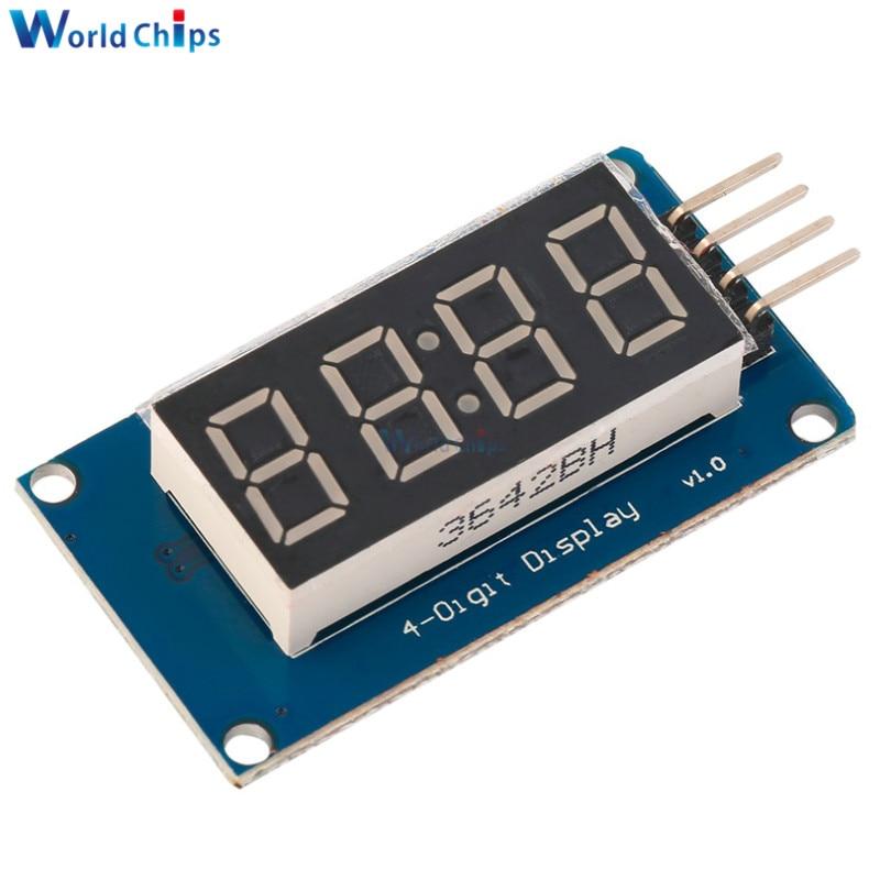 0.36 inch 4-digit LED Digital Tube TM1637 Driver Adjustable Display Module Digit Tube Serial Driver Board for Arduino-Yellow
