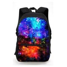 Mulheres Galaxy Estrelas Universo Espaço Impressão de Lona Mochila Laptop  Mochilas para Adolescente Meninas Saco de Escola . 1fea3e91a5