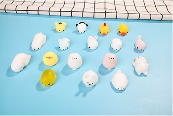 100pcs Lovely Squishy Toy Soft Seal Dolls Squish Animals Squeeze Toys TPR Reduce Pressure Dolls Cute Kids Birthday Gift wen6356