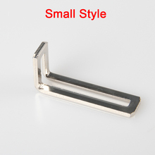 цена на Brand New 50PCS L Shape Right Angle Corner Braces Metal Frame Board Shelf Support Brackets Furniture Connectors
