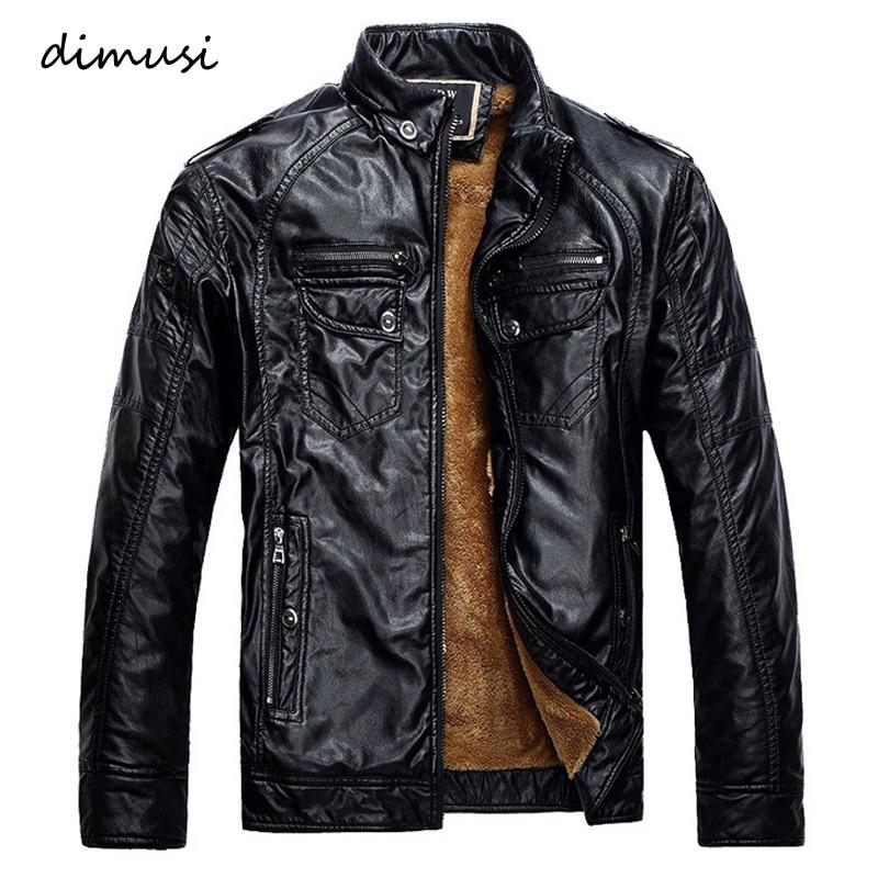 Winter Male Leather Jacket Mens Coats Fur Inside Men Motorcycle Jacket High Quality PU Leather Outwear Jackets Plus Size.YA117