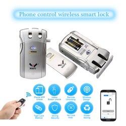 Wafu WF-018 Drahtlose Unsichtbare Smart Lock Fernbedienung Elektronische Keyless Türschloss 433MHz Telefon Control Fingerprint Schlösser