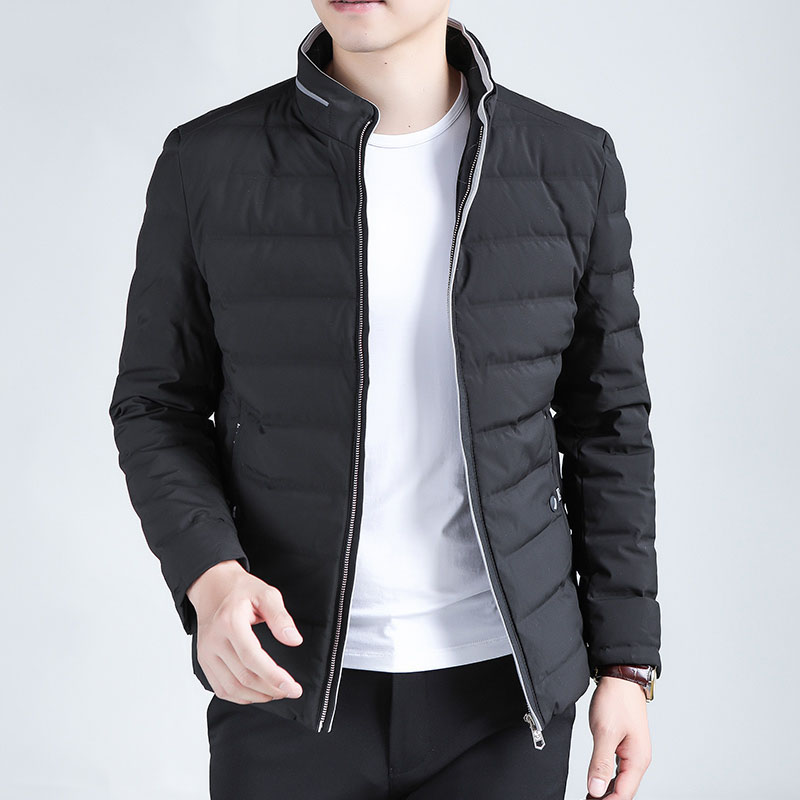 New 2019 autumn winter   down   jacket men stand collar short   down     coat   outerwear plus size