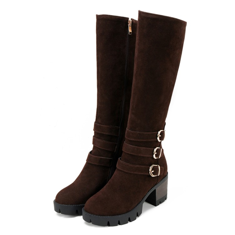 Big Size 9 10 11 12 thigh high boots knee high boots over the knee boots boots women ladies boots Side zipper with belt buckleBig Size 9 10 11 12 thigh high boots knee high boots over the knee boots boots women ladies boots Side zipper with belt buckle