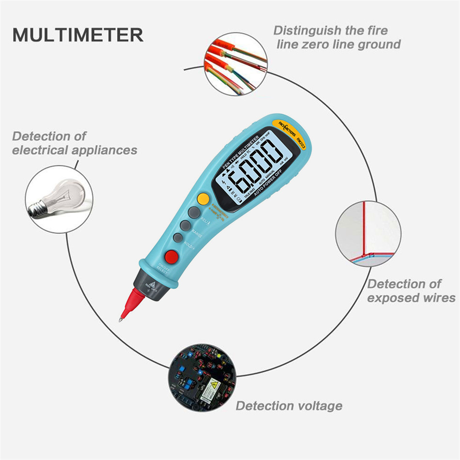 Digital Multimeter AC/DC Voltage Resistor Capacitance Frequency tester Car detector Measurement tool Auto-Range mastech ms8250a digital multimeter auto range tester detector