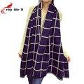 Manta cachecol de inverno 2015 New England estilo queda feminino grande imitação de espessura Cashmere xales Wraps marca cachecóis