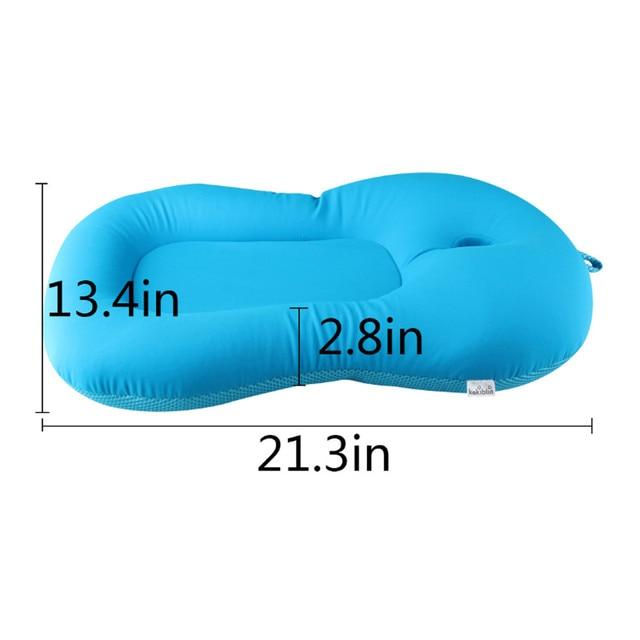 Baby Bath Tub Pillow Pad Lounger Air Cushion Floating Soft Seat Infant Newborn Non-slipt Bath Pillow Bathroom Accessories 4