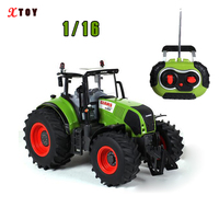 RC Truck Farm Tractor 2.4G Remote Control Trailer / Rake 1:16 High Simulation Scale Construction Vehicle Children Toys Hobby
