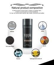 Beauty Cosmetic Extention Hair Loss Treatment 27.5g Toppk Hair Fiber Keratin Thinning Hair Thickening Fiber Powder