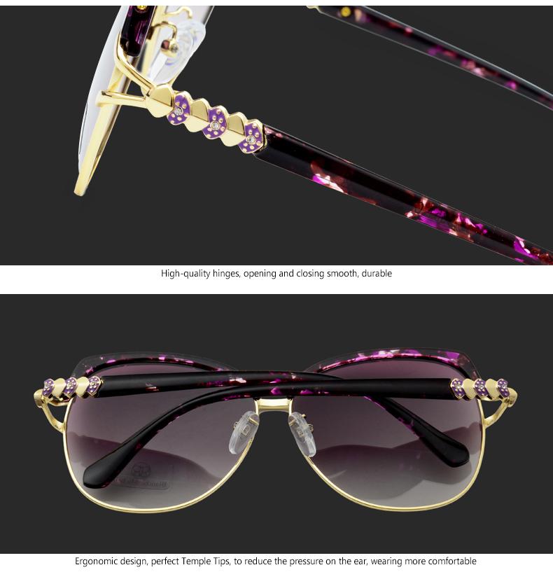 HTB11Iyrf8USMeJjy1zjq6A0dXXaS - Blanche Michelle 2018 High Quality Square Polarized Sunglasses Women Brand Designer UV400 Sun Glasses Gradient Sunglass With Box