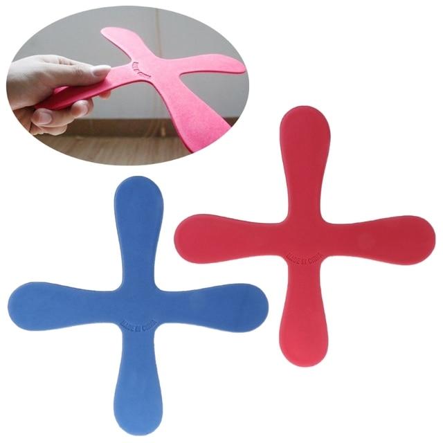 HBB 1 шт. крест Форма Бумеранг летающие игрушки открытый парк блюдце забавная игра детские спортивные
