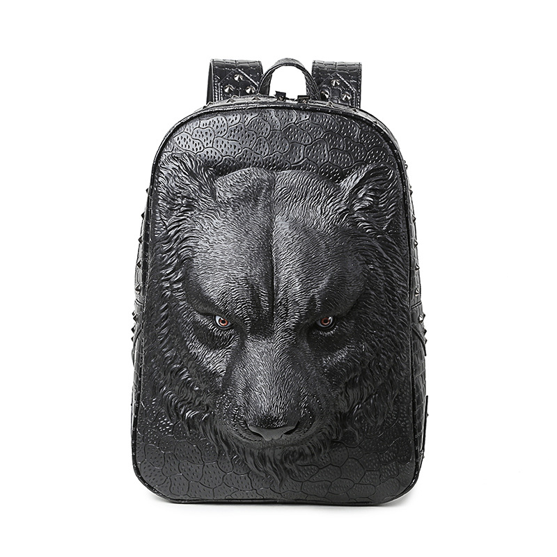 3D Tiger Animal Backpack Women Men Laptop Backpack Vintage Rock PU Leather Backpacks Fashion Travel School Computer Rivet Bags new kids fashion women famous brand school backpacks small backpack vintage casual rivet pu leather travel bags high quality