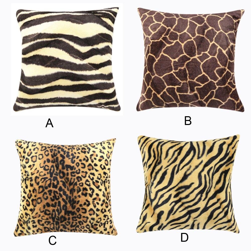 45 45cm plush animal zebra leopard tiger texture printed throw pillow case sofa bed home decor cushion cover throw pillow cover cushion cover throw pillow coversdecorative cushion covers aliexpress