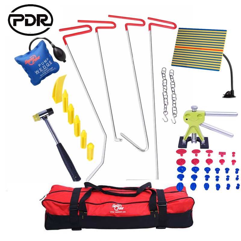 PDR Tools Hooks Push Rods Dent Removal Car Dent Repair Car Body Repair Kit Paintless Dent Repair Dent Lifter Tool Set