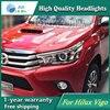 High Quality Car Styling Case For Toyota Hilux Vigo 2016 Headlights LED Headlight DRL Lens Double