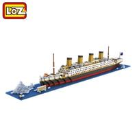 Titanic Ship LOZ Diamond Building Blocks Titanic Architecture Building Model Educational Gift Toy For Children