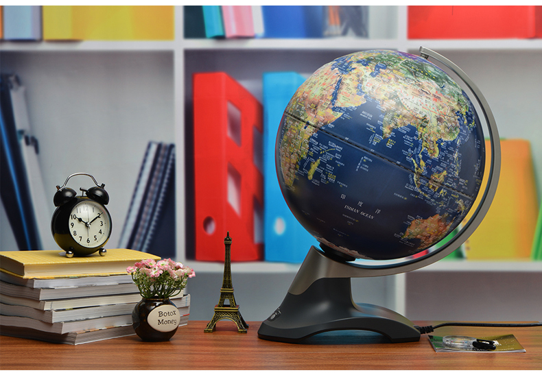 30cm HD Electric Autorotation 3D Relief Earth Globe Table Lamp Office Desk  Decor Kids Gift Geography Teaching World Map Light In Table Lamps From  Lights ...
