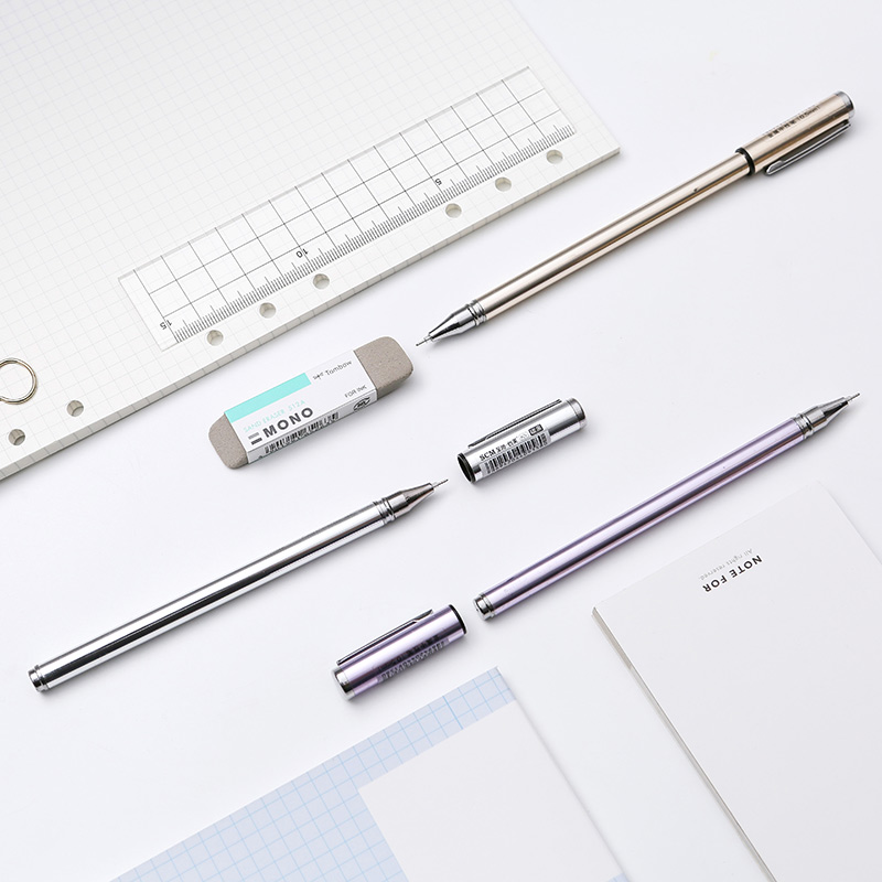 Scm K-5 Metal Gel Pen Full Needle 0.5mm Signature Pen Carbon Pen Business Black 1PCSScm K-5 Metal Gel Pen Full Needle 0.5mm Signature Pen Carbon Pen Business Black 1PCS